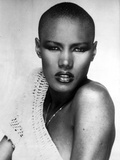Portrait of Grace Jones in Red lipstick Photo by  Movie Star News