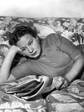 Shirley Booth Lying on a Bed and Reading Photo by  Movie Star News