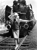 Daniela Bianchi standing on a Railroad Photo by  Movie Star News