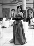 Brooke Adams in Evening Gown and Gloves Photo by  Movie Star News