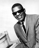 Ray Charles in Brown Suit With Sunglasses Photo by  Movie Star News