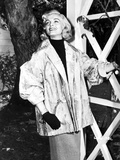 Lizabeth Scott Posed in Coat and Gloves Photo by  Movie Star News