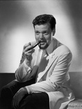 Orson Welles Smoking in Black and White Photo by E Bachrach