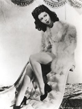 Ann Miller sitting in Fur Coat Portrait Photo by  Movie Star News