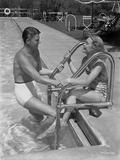 Ronald Reagan in White Swimming Trunks Photo by  Movie Star News