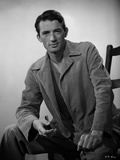 Gregory Peck in Leather Jacket Portrait Photo af E Bachrach