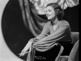Myrna Loy Holding Hands in Black and White Photo by  Fraker