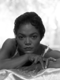 Eartha Kitt Portrait in Black and White Photo by  Movie Star News