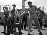 Mister Roberts Man Kneeling around Sailors Photo by  Movie Star News