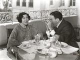 George Burns Looking Through Binoculars Photo by  Movie Star News