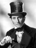 Peter Cushing Posed in Black Suit With Hat Photo by  Movie Star News