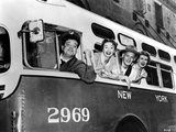 Honeymooners Four People posed in the Bus Photo by  Movie Star News