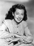 Gail Russell smiling in Checkered Shirt Photo by  Movie Star News