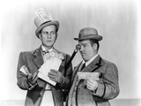 Abbott & Costello Portrait in Suit and Hat Photo by  Movie Star News