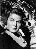Ingrid Bergman sitting and Hand on Head Photo by  Movie Star News