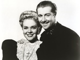Alice Faye Taking a Picture with a Guy Photo by  Movie Star News