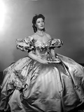 Greer Garson on a Silk Ball Gown sitting Photo by  Movie Star News
