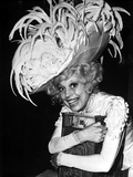 Carol Channing wearing a Feathered Hat Photo by  Movie Star News