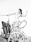 Esther Williams on a Horse-Drawn Vehicle Photo by  Movie Star News
