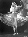 Gloria Grahame Posed in a White Fur Gown Photo by  Movie Star News