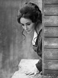 Elizabeth Taylor Looking Down in Classic Photo by Bob Penn