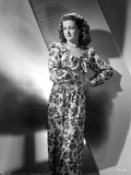 Joan Bennett wearing a Long Floral Gown Photo by  Movie Star News