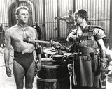 Kirk Douglas Stopped by a Man Movie Scene Photo by  Movie Star News