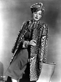 Ann Sheridan wearing an Animal Themed Coat Photo by  Movie Star News
