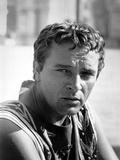 Richard Burton Posed in Black and White Photo by  Movie Star News