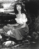 Loretta Young Lady taking a Bath in River Photo by  Movie Star News