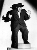 Rondo Hatton standing in Black Suit Photo by  Movie Star News