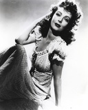 Loretta Young Pose with Long Dress Photo by  Movie Star News