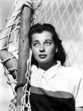 Gail Russell Leaning on Soccer Goal Photo by  Movie Star News