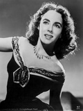 Elizabeth Taylor Looking Up in Dress Photo by CS Bull
