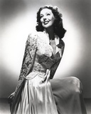 Loretta Young Long White Dress Pose Photo by  Movie Star News