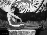 Clara Bow Posed in Shiny Tube Dress Photo by ER Richee