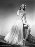 Rita Hayworth posed in Wedding Gown Photo by Robert Coburn