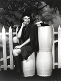 Paulette Goddard Posed with Barrels Photo by  Movie Star News