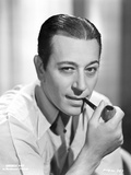 George Raft Posed with Smoking Pipe Photo by ER Richee