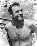 Sean Connery Undress Black and White Photo by  Movie Star News