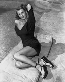 Rita Hayworth Posed with a Black Dress Photo by  Movie Star News