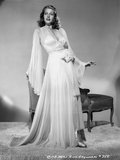Rita Hayworth Posed in a White Gown Photo by Robert Coburn