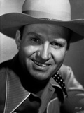 Gene Autry smiling in Cowboy Outfit Photo by  Movie Star News