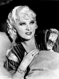 Mae West smiling in Black and White Photo by  Movie Star News