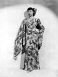 Anna Wong wearing a Long Floral Dress Photo by  Movie Star News