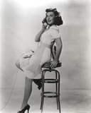 Paulette Goddard Posed with High Chair Photo by  Movie Star News