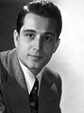 Perry Como Posed in White and Black Photo by  Movie Star News