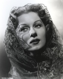 Rhonda Fleming Looking Side Ways in Veil Photo by  Movie Star News