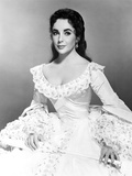 Elizabeth Taylor Seated in Ball Dress Photo by  Movie Star News