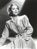 Loretta Young Striped Long Coat Dress Photo by  Movie Star News